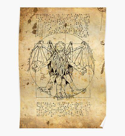 Cthulhu Vitruvian Poster
