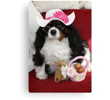 Charlie in Her Easter Bonnet Canvas Print