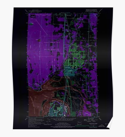 USGS Topo Map Washington State WA Marysville 242207 1956 24000 Inverted Poster