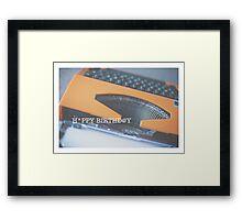 typewriter: happy birthday Framed Print