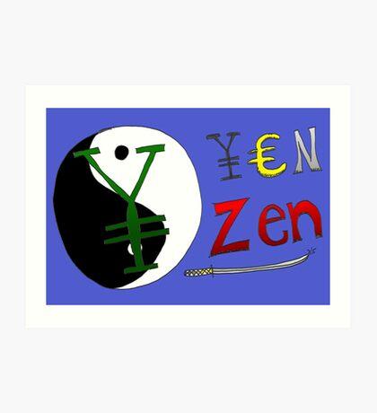 Binary Options News Cartoon - Zen Yen Art Print