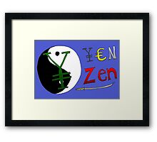 Binary Options News Cartoon - Zen Yen Framed Print