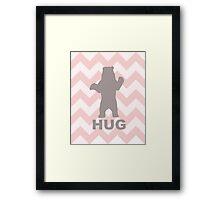 Bear Hug - Pink Framed Print