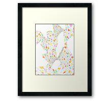 Geometric landscape multi colour rainbow 03 drawing  Framed Print