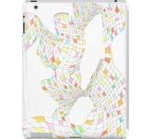 Geometric landscape multi colour rainbow 03 drawing  iPad Case/Skin