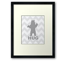 Bear Hug - Grey Framed Print