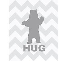 Bear Hug - Grey Photographic Print