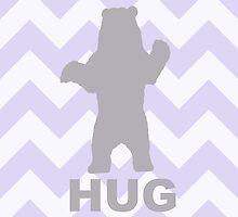 Bear Hug - Purple by Susan Tong