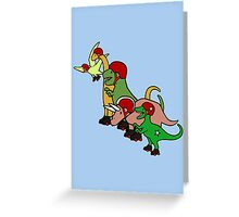 Roller Derby Dinosaurs Greeting Card