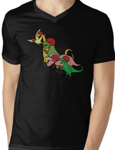 Roller Derby Dinosaurs Mens V-Neck T-Shirt