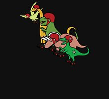 Roller Derby Dinosaurs Womens Fitted T-Shirt