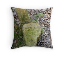 Unhappy Tree Throw Pillow