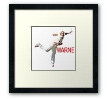 Shane Warne Framed Print
