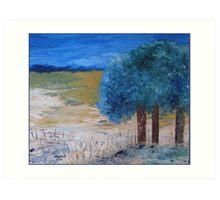 Blue trees Art Print
