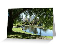 Willow Reflections, Queens Park WA Greeting Card