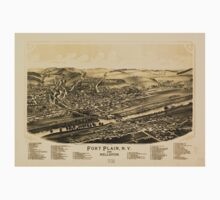 Panoramic Maps Fort Plain NY and Nelliston Baby Tee