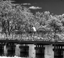 riding across the river by BigAndRed