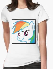 Rainbow Dash Challenge face Womens Fitted T-Shirt