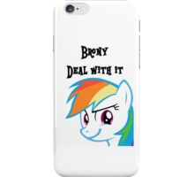 Rainbow Dash Challenge face iPhone Case/Skin