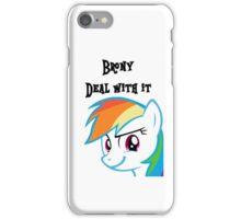 Rainbow Dash Challenge face iPhone Case/Skin