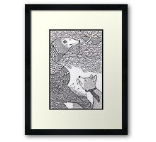 The Fox and the Crow Framed Print
