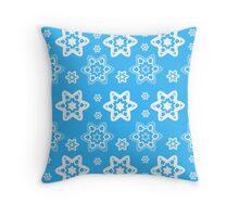 Snowflake Azure Too Throw Pillow