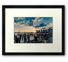 Melbourne Docklands Sunset 1 Framed Print