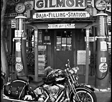 """Harley At The Filling Station"" by Gail Jones"