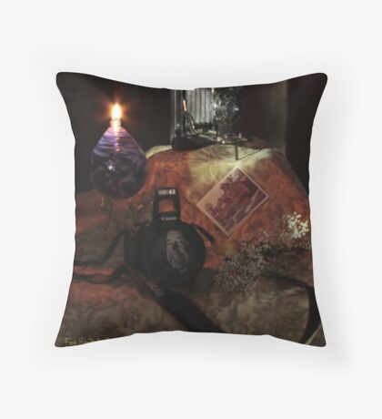 Self Portrait Reflection in Lens Throw Pillow