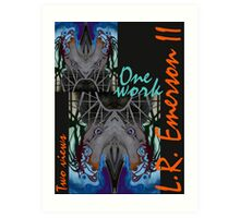 """""""One work, Two Views"""" Commemorative Poster by L. R. Emerson II from the Upside-Down Drawing Art Movement; Upsidedownism, Topsy Turvy Art, Ambigram Art, or Masg Art  Art Print"""