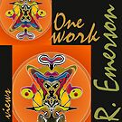 """""""One work, Two Views"""" Commemorative Poster by L. R. Emerson II from the Upside-Down Drawing Art Movement; Upsidedownism, Topsy Turvy Art, Ambigram Art, or Masg Art  by L R Emerson II"""