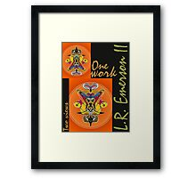 """""""One work, Two Views"""" Commemorative Poster by L. R. Emerson II from the Upside-Down Drawing Art Movement; Upsidedownism, Topsy Turvy Art, Ambigram Art, or Masg Art  Framed Print"""