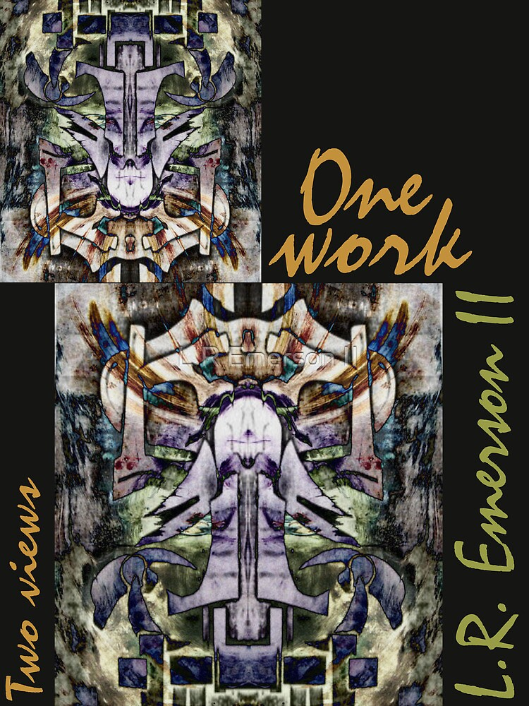 """One work, Two Views"" Commemorative Poster by L. R. Emerson II from the Upside-Down Art Movement; Upsidedownism, Topsy Turvy Art, Ambigram Art, or Masg Art  by L R Emerson II"
