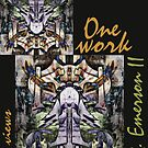 """""""One work, Two Views"""" Commemorative Poster by L. R. Emerson II from the Upside-Down Art Movement; Upsidedownism, Topsy Turvy Art, Ambigram Art, or Masg Art  by L R Emerson II"""