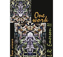 """One work, Two Views"" Commemorative Poster by L. R. Emerson II from the Upside-Down Art Movement; Upsidedownism, Topsy Turvy Art, Ambigram Art, or Masg Art  Photographic Print"