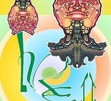 """L. R. E. II"" Limited Edition, 2009 Commemorative Poster by Leading Upside Down Artist, L. R. Emerson II from the Upside-Down Art Movement; Upsidedownism, Topsy Turvy Art, Ambigram Art, or Masg Art  by L R Emerson II"