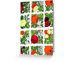 Fifties Fruit Greeting Card
