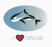 I Love Orcas T-Shirts, Hoodies, Cards, Phone Cases and More Kids Tee