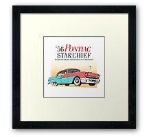 '56 Pontiac Star Chief Brand | Vintage Car Illustration Poster Framed Print