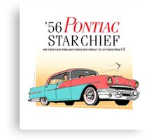 '56 Pontiac Star Chief Brand | Vintage Car Illustration Poster Canvas Print