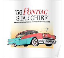 '56 Pontiac Star Chief Brand | Vintage Car Illustration Poster Poster