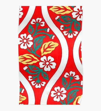 Japanese Red Flower  Poster