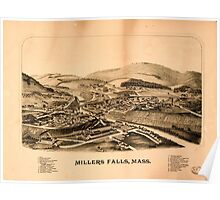 Panoramic Maps Millers Falls Mass Poster