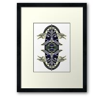Upside-Down Art 1986, By Upside-Down Artist L. R. Emerson II from the Upside-Down Art Movement; Upsidedownism, Topsy Turvy Art, Ambigram Art, or Masg Art  Framed Print