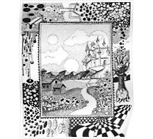 Fantasy Land Surrealism Poster