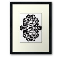 """""""Beyond Picasso; Ode to Peter Newell"""" 2012 by Upside-Down Artist L. R, Emerson II from Upside-Down Art Movement; Upsidedownism, Topsy Turvy Art, Ambigram Art, or Masg Art Framed Print"""
