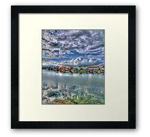 Widewater Lagoon Shoreham - HDR Framed Print