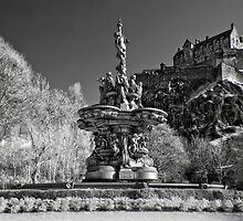 Edinburgh Castle & The Ross Fountain ( Please View Larger) by Don Alexander Lumsden (Echo7)