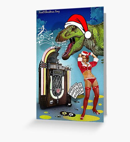 Jurassic Christmas Song Greeting Card