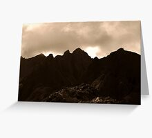 Cuillin Skyline, Isle of Skye, Scotland Greeting Card